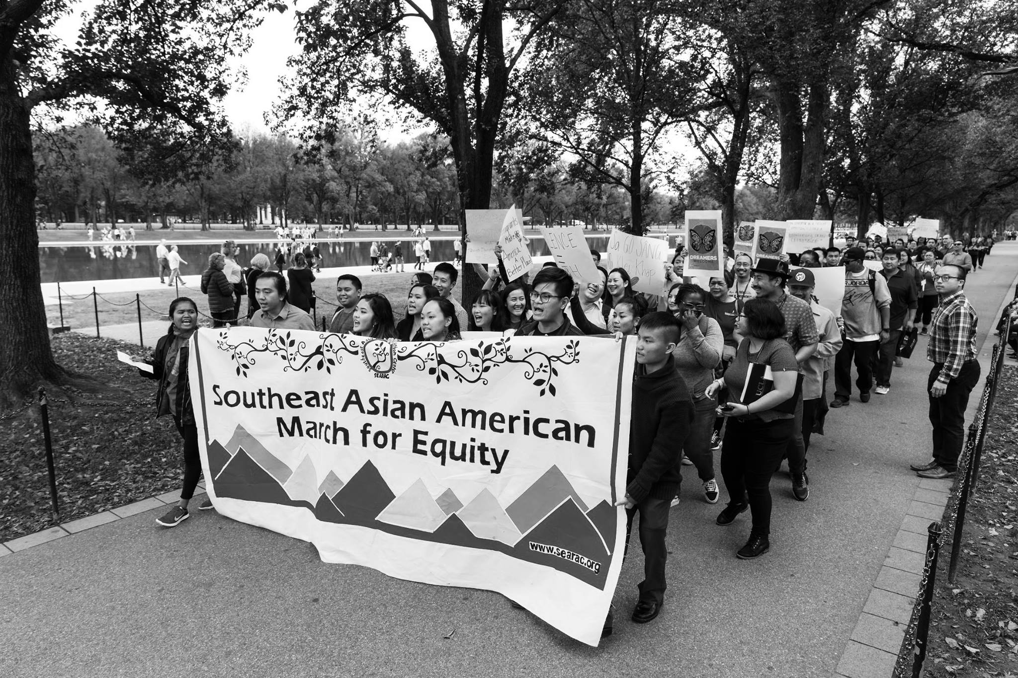 Vanessa participates in the equity march at the inaugural Moving Mountains: A Southeast Asian American Equity Summit in Washington, D.C. (photo credit: SEARAC)