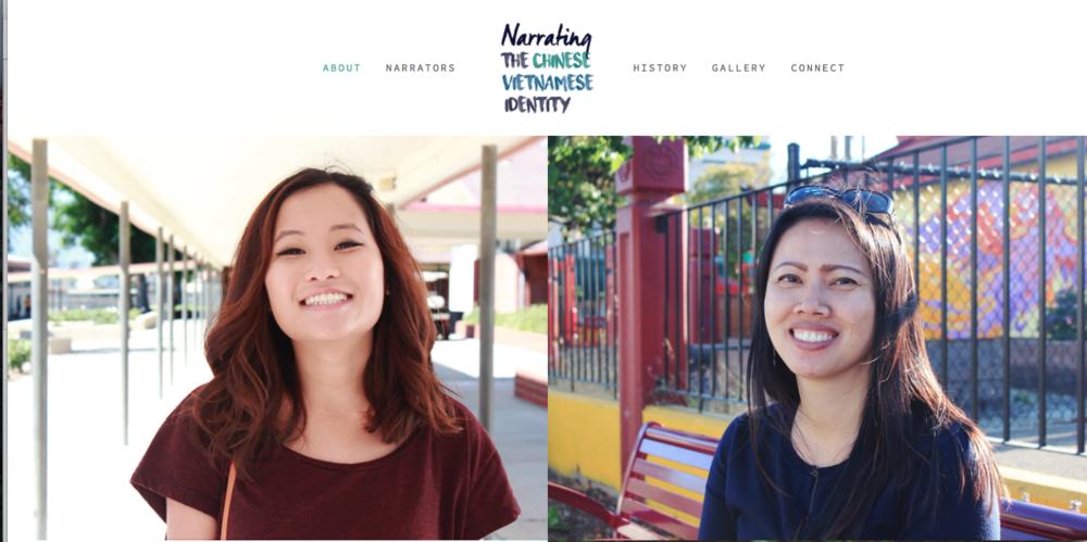 Screenshot of the  website.