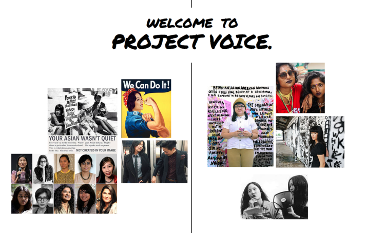 Screenshot of Project Voice website.