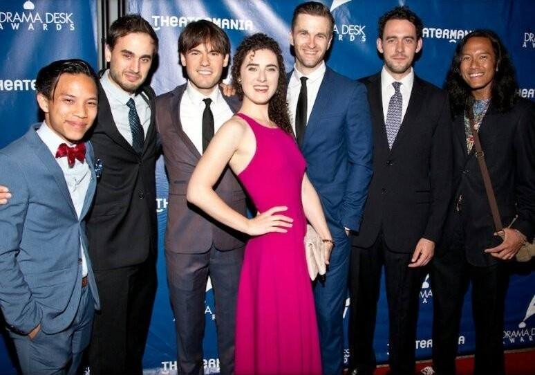 The Lobbyists and Raymond Sicam III at the 2016 Drama Desk Awards.