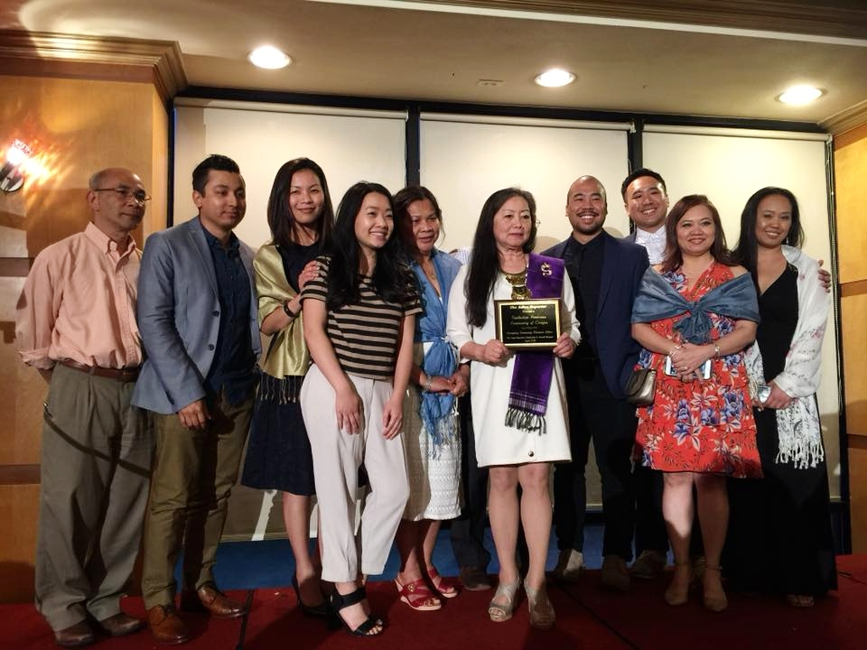Above: CACO received the 2017 Exemplary Community Volunteer Effort by the Oregon-base newspaper,  Asian Reporter .