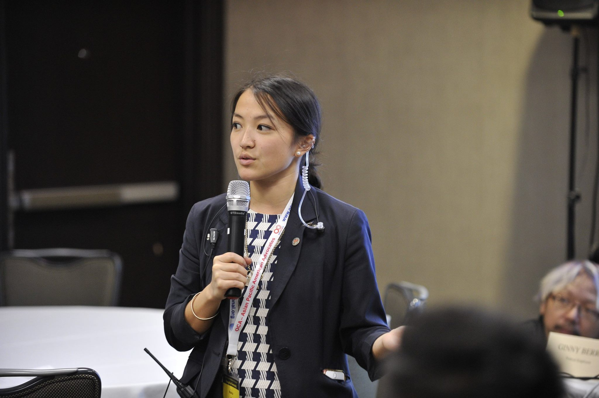 Monica giving remarks during the OCA Convention workshop she planned.