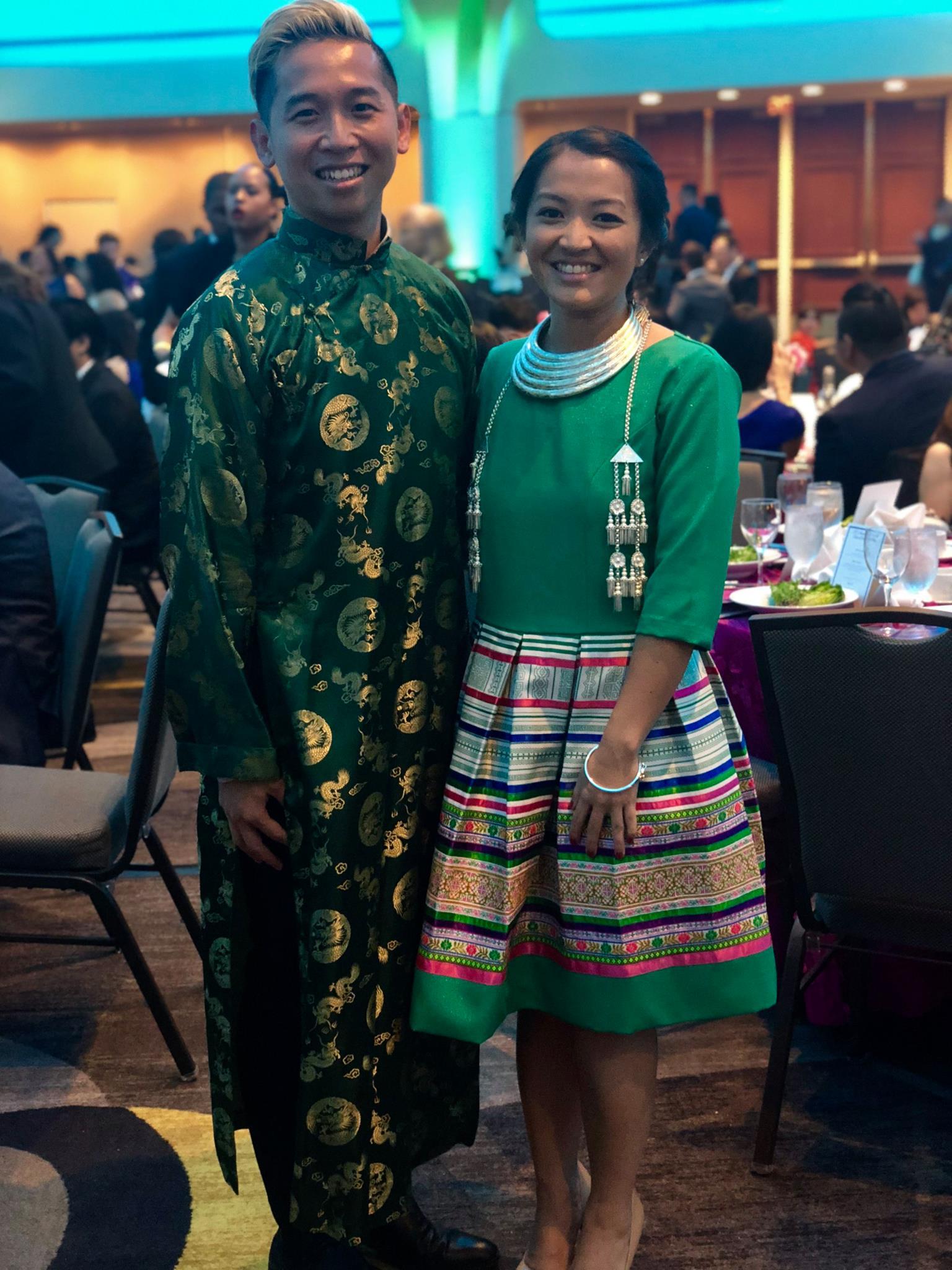 Fierce Advocate and friend of Monica's, Viet Tran posing at APAICS' Annual Gala 2018.