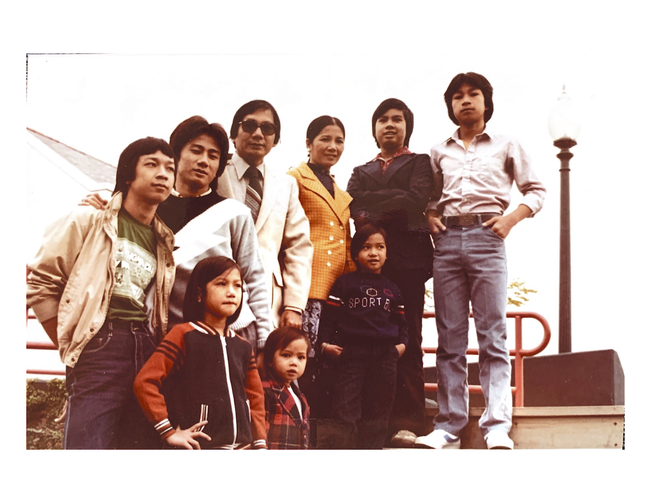 This is my entire family — my parents, my siblings, and me (the smallest) — when we were finally reunited in New Orleans in 1981.