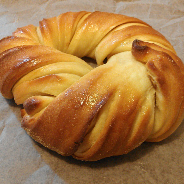 PHOTO: COURTESY OF   @WEATETHATBLOG  .   So, while we were all busy fussing over and standing in line for the cronut, a new hybrid popped up in our fair city, and it almost went unnoticed. It seems Brooklyn's  Bagel Store came to play with its own carb-heavy creation last fall, which is part bagel and part croissant. Meet the cragel.  And, with that, breakfast just got even more glorious. The Bagel Store's latest offering can only be described as a flakey, buttery treat, and we can't wait to get our paws on one. The Williamsburg hot spot sells the hybrid for $2.95 — a full two bucks cheaper than the Dominique Ansel cronut. Best of all, it seems there's no significant line for these, so you don't have to wake before dawn to enjoy one.  Will the cragel dethrone the cronut once and for all? While we're not so sure about that, we definitely don't need any convincing to to get over to the Bagel Store and try one for ourselves — stat. ( Gothamist )  More NYC Food Buzz:  10 Spots To Brunch Like A Boss   Anthony Bourdain's New Project Will Make Foodies Rejoice   Connie Cam: It Finally Happened — We Tried A Cronut!   And The Best Doughnut In NYC Is...
