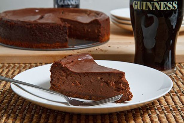 This Guinness chocolate cheesecake would be the perfect addition to any St Patrick's Day meal