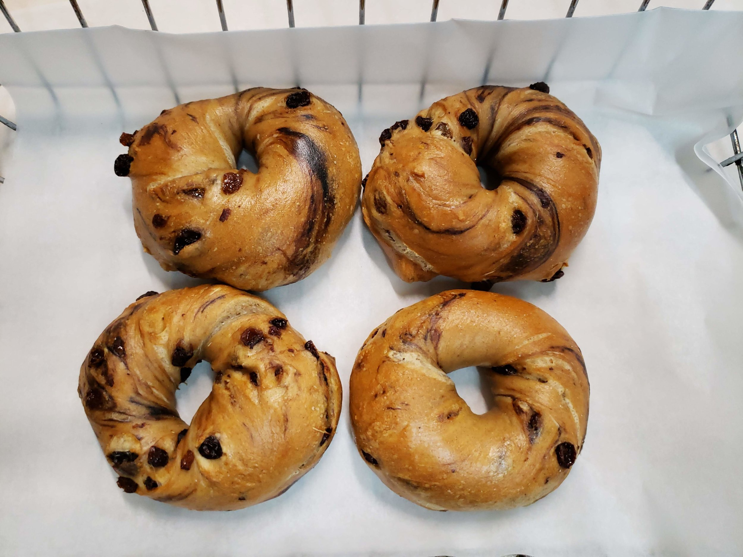Cinnamon Raisin Bagel $2.40