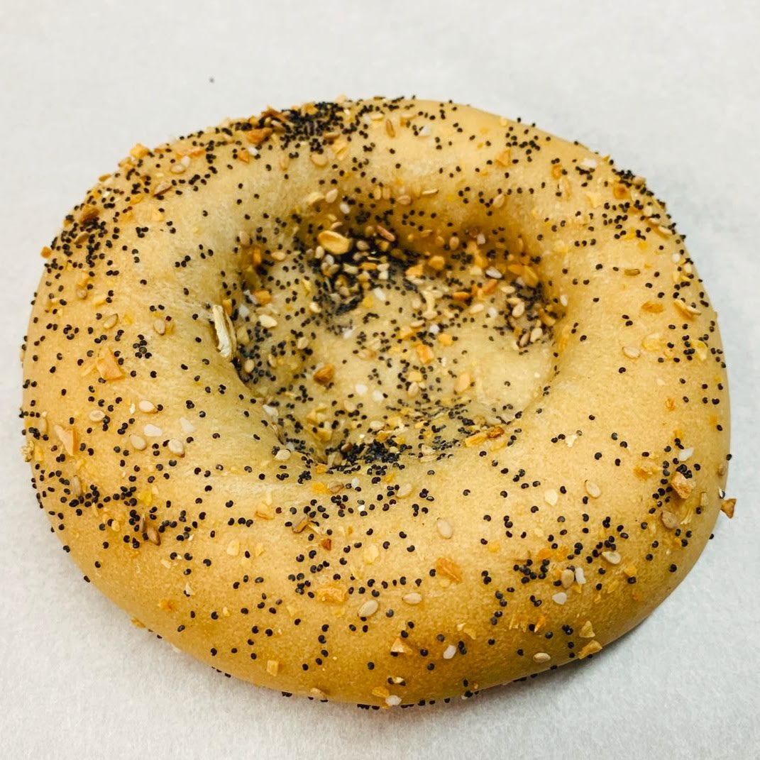Everything Bagialy , combination bialy and bagel!! $1.75