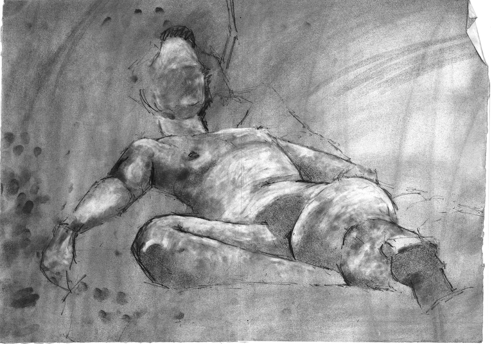 Reclining Nude #10   1987 | 42 x 59cm Graphite Signed on front Email me for sales enquiry