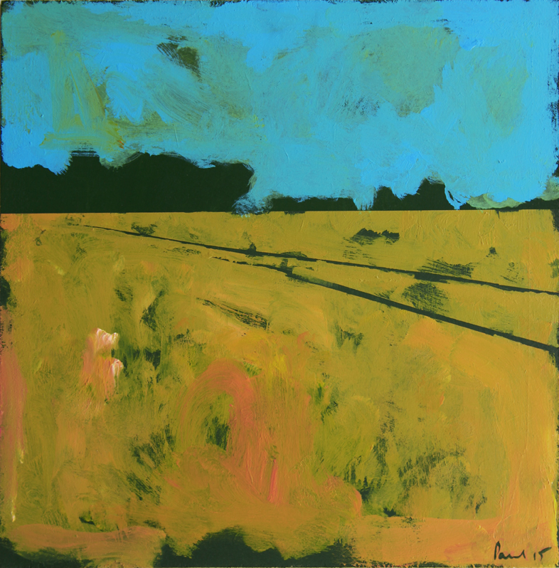 Barley Tracks 2015 | 33.3 x 33.3 x.5cm Acrylic on board Signed  S OLD