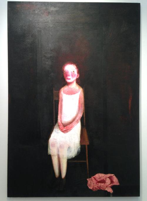 Lisa Stokes – Self Portrait with Clown Face (2013) John Martin Gallery