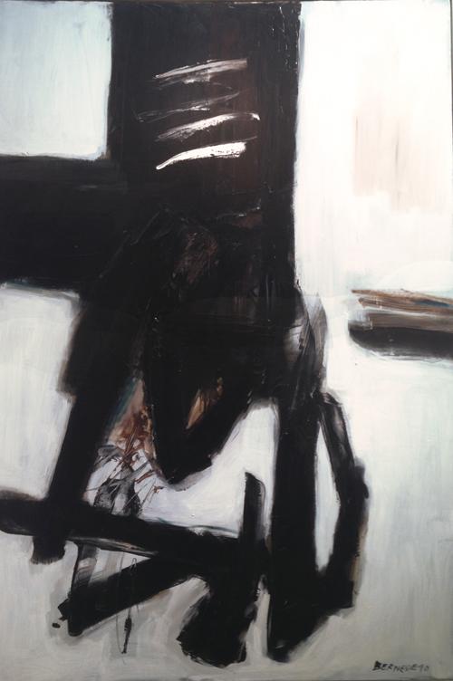 Georges Bernéde – Composition 90-05 (1990) Whitford Fine Art
