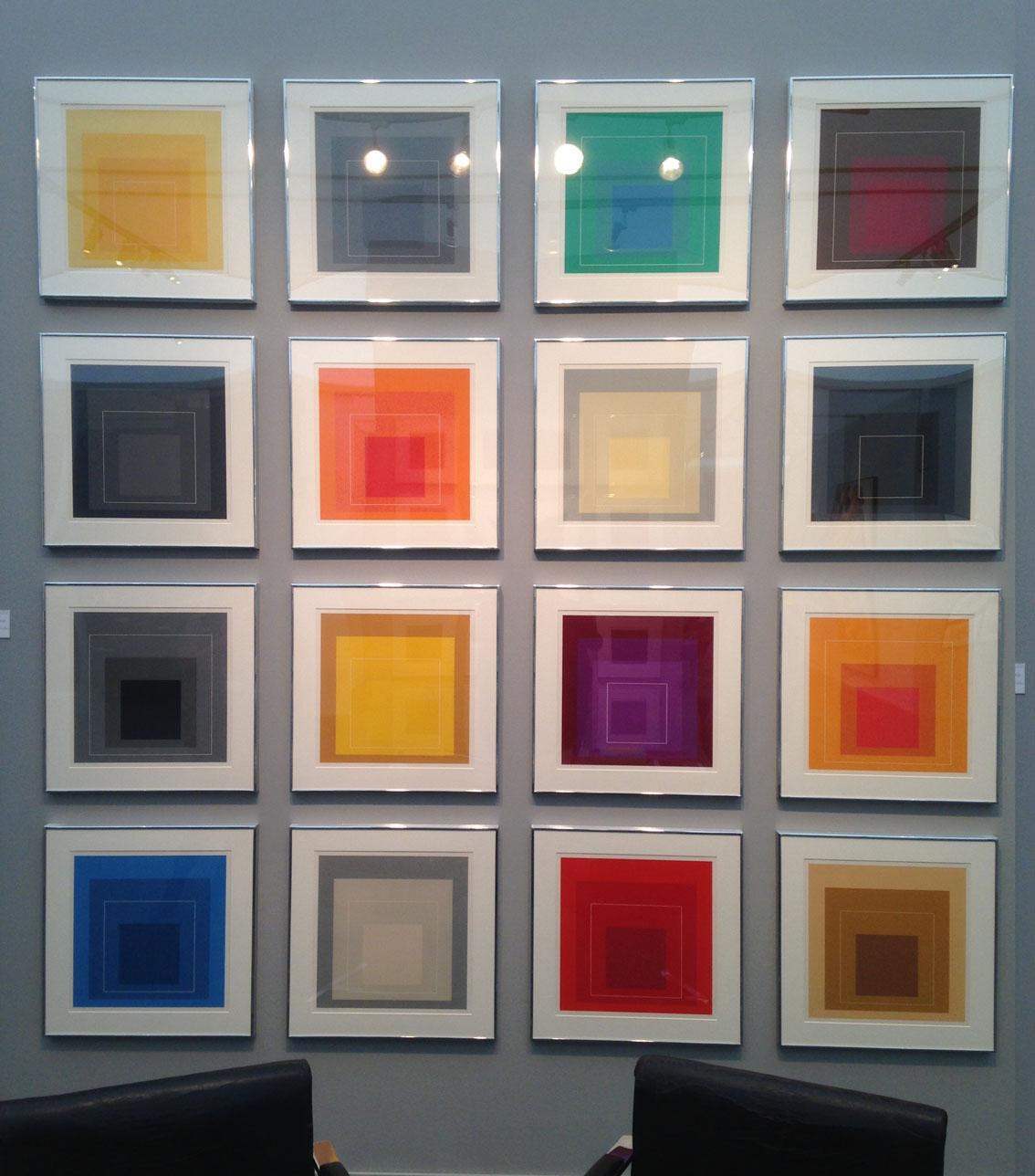 "Josef Albers 'Colour Study for White Line Square (Home to the Square)"" 1966 Alan Cristea Gallery"