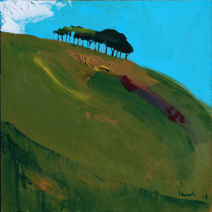 Copper Hill, North Chideock  2014 | 33.3 x 33.3 x .5cm Acrylic on board  SOLD