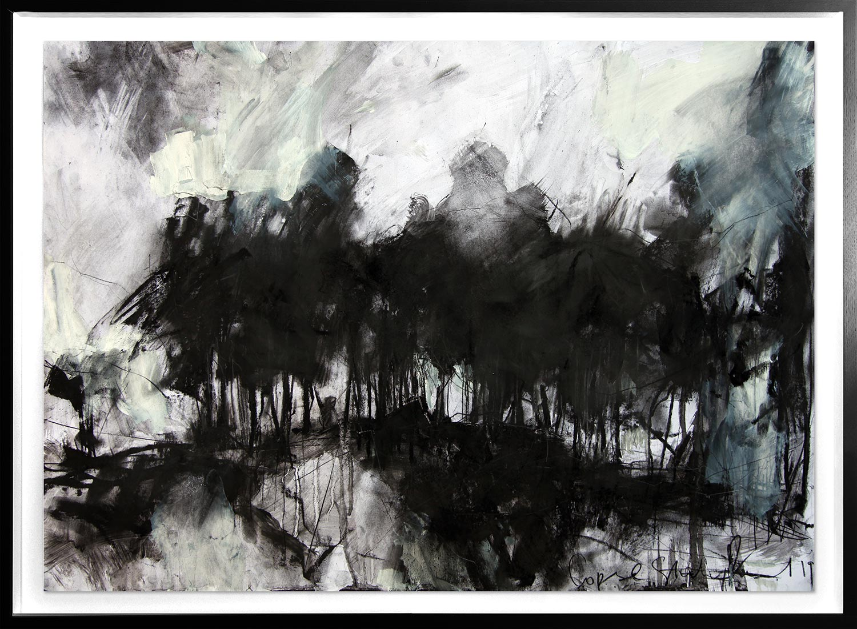 Copse Study  2019 | 84 x 60cm Conté, charcoal, acrylic, chalk Signed   BUY PRINT