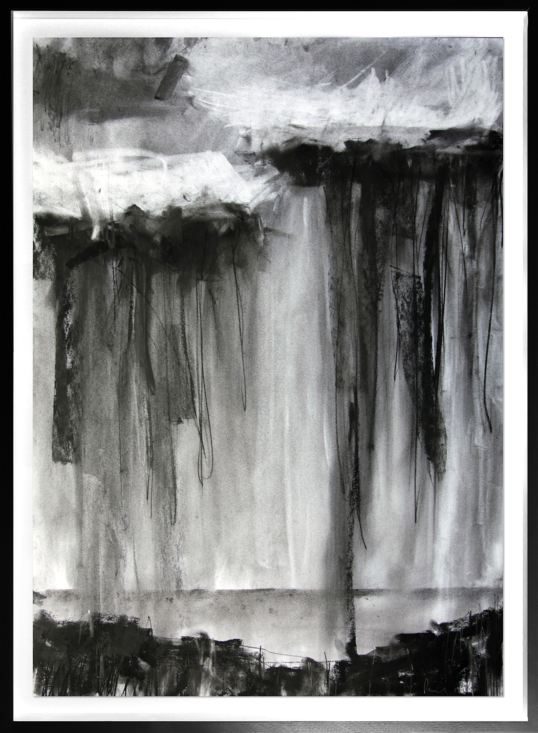 Squall  2019 | 60 x 84cm Charcoal & graphite Signed on front  POA