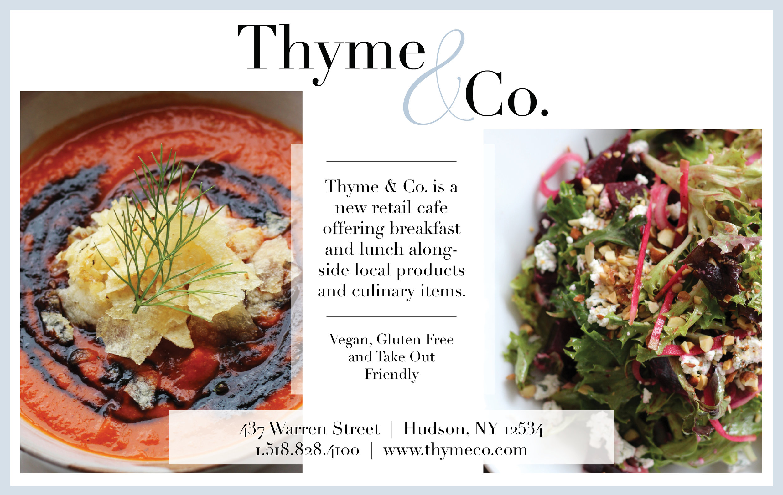 Ad Design for Thyme & Co.