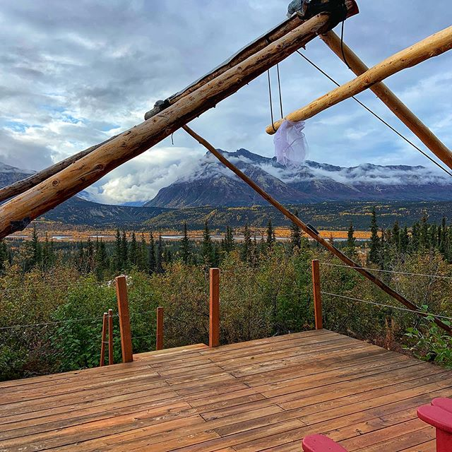 We are officially done for the 2019 season. Tents are down, snow is falling on the tops of mountains, and trees are yellow!Thank you everyone for another great #glamping season! See you in #summer2020  #alaskaliving #alaskaglamping #glampingalaska #matsuvalley #matanuskaglacier #aklife #907life #alpenglowluxurycamping #micaguides