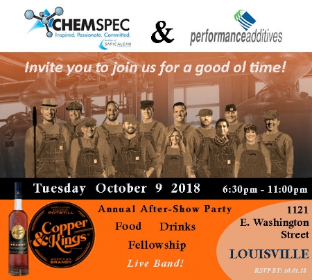 ChemSpec 2018 International Elastomer Conference After Show Party Invite