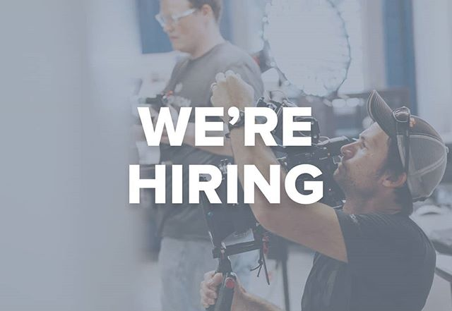 We're hiring a full-time junior videographer / editor to join our team. Link in bio.