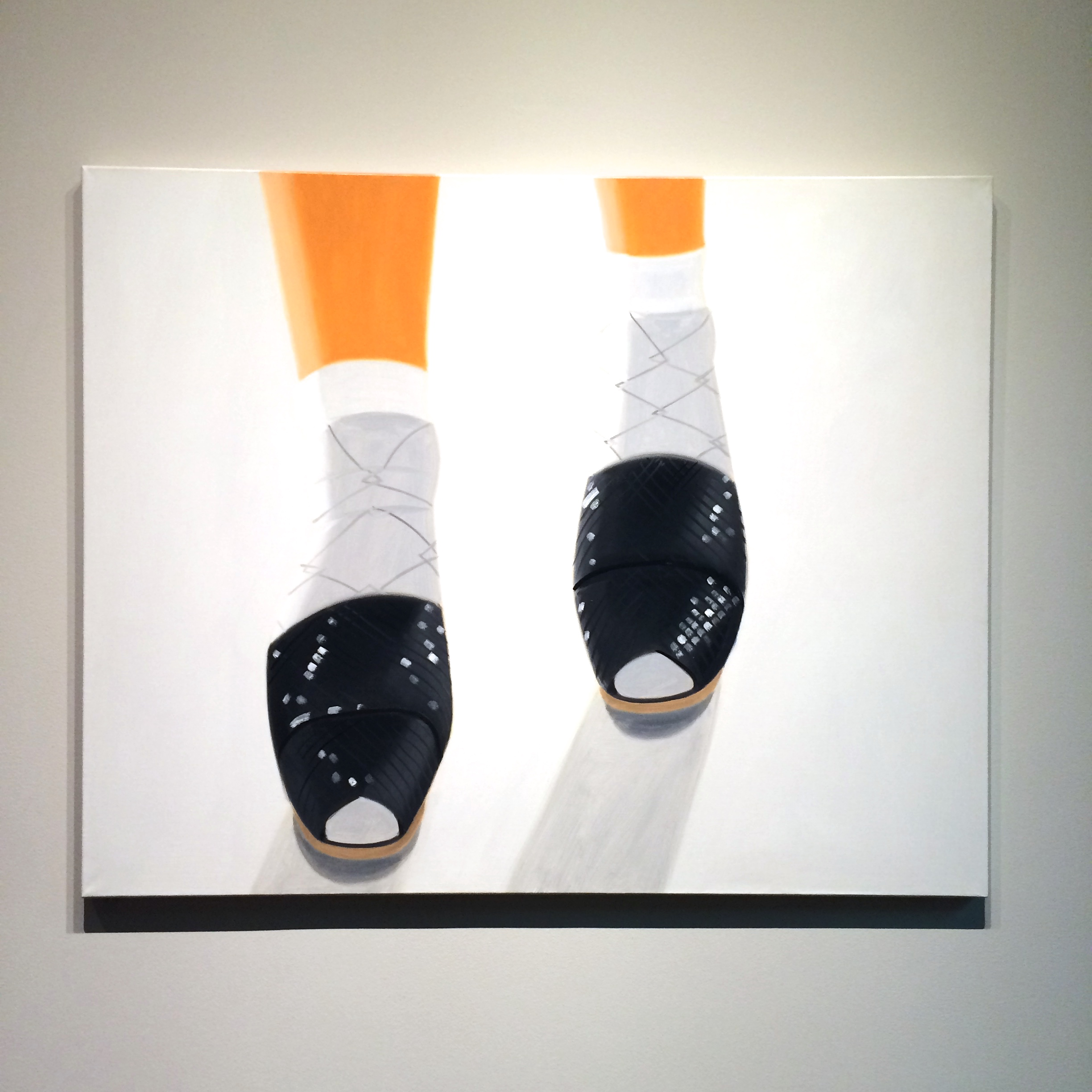 Alex Katz,  Ada's Black Sandals  (1987). 48 × 60 inches. Colby College Museum of Art, Gift of the artist.