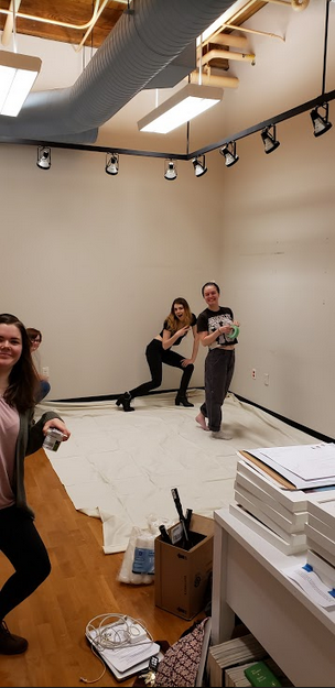 Active learning doesn't always look this hands-on, but it did when we were renovating our gallery space!