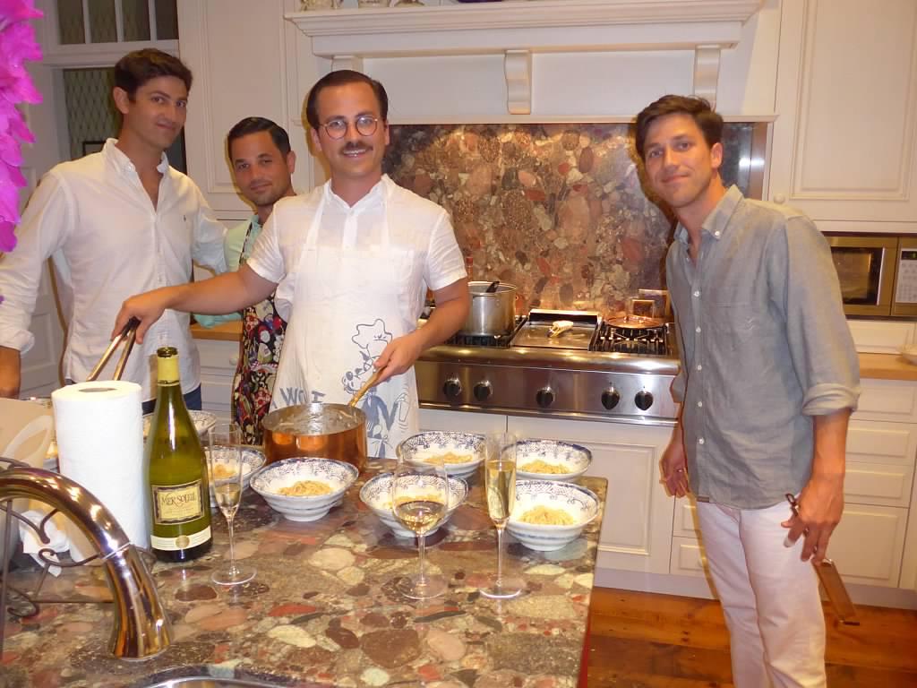 John, Philip, William and Edward. Last summer, as we celebrated John's engagement.