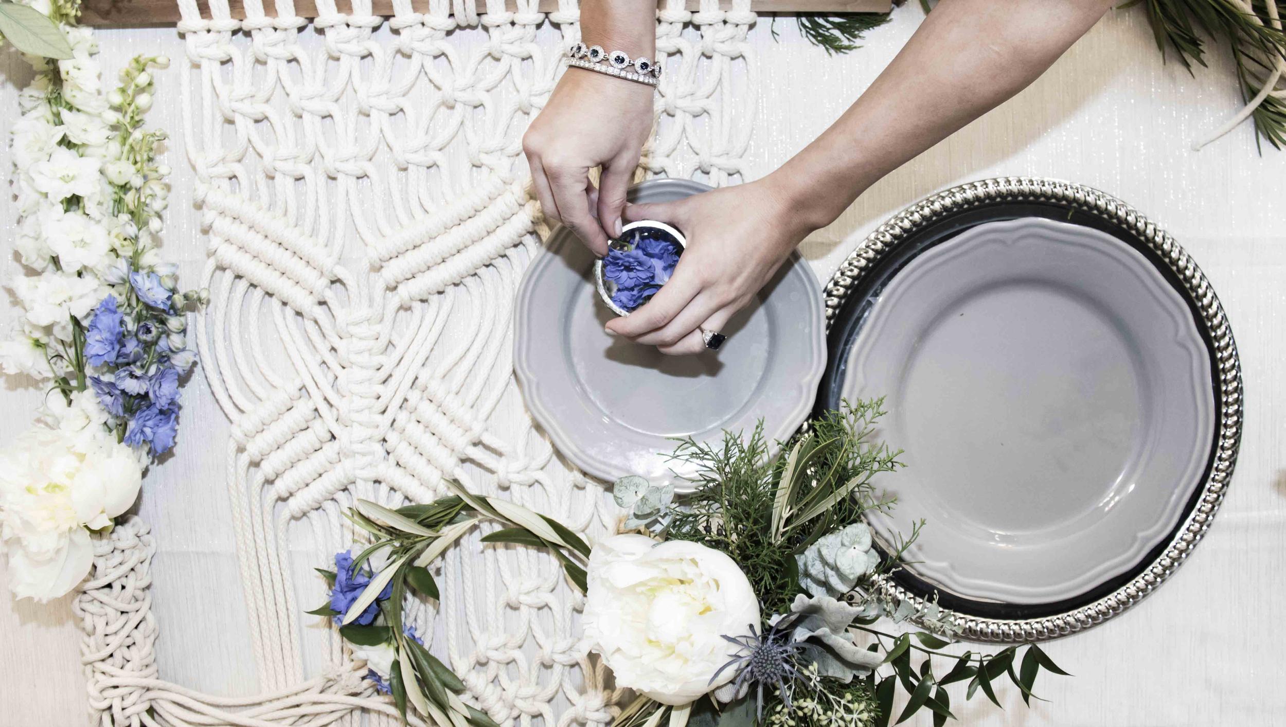 Macrame wedding detail