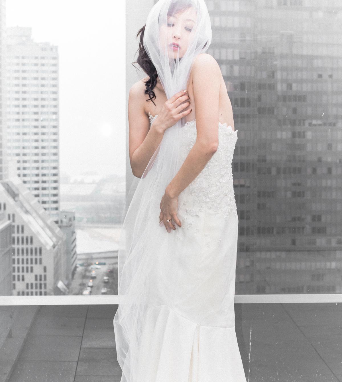 Roof deck wedding Chicago