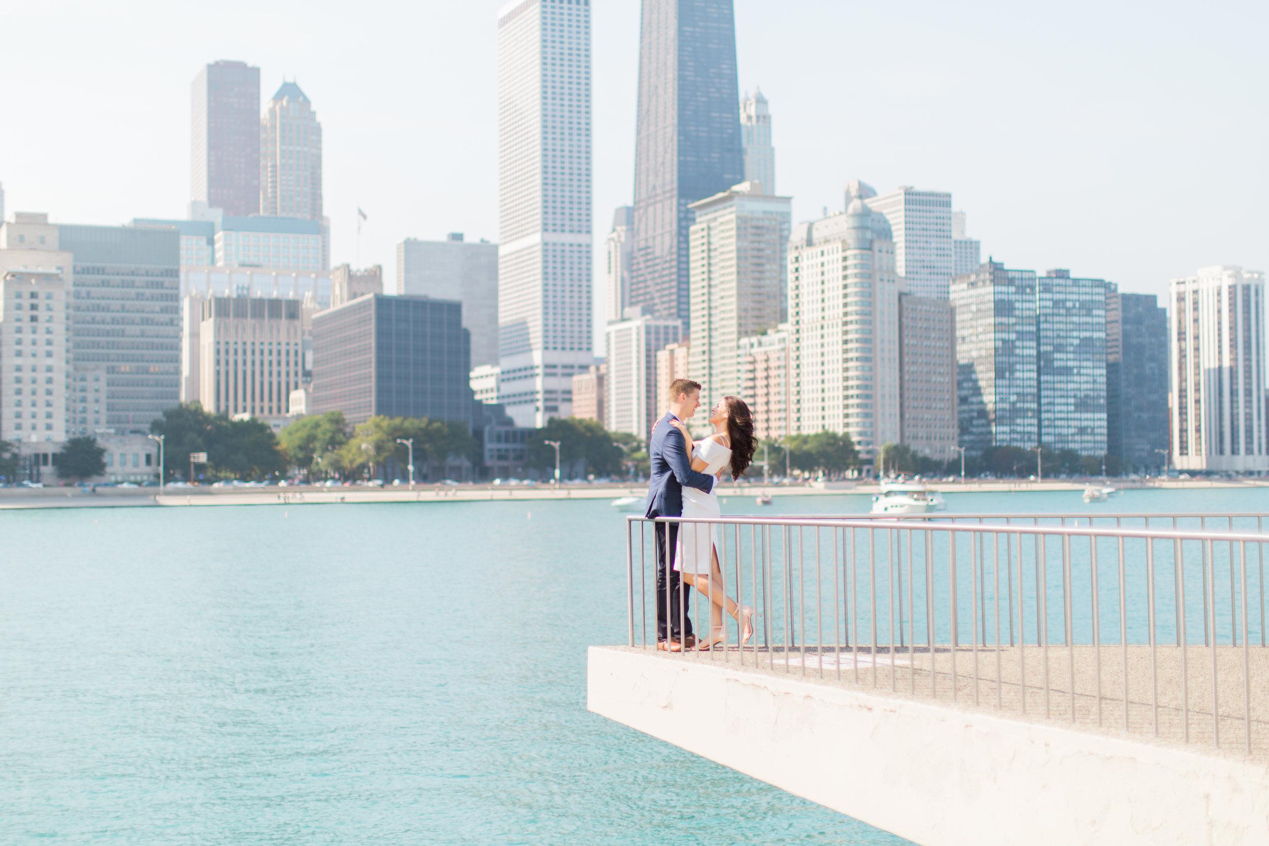 Bonphotage Chicago Skyline Engagement Photography