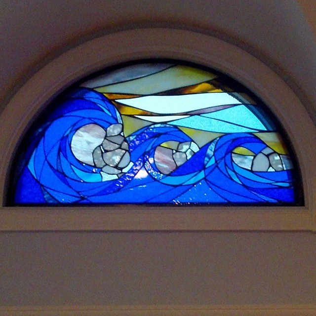 Stained glass window. Thank you William Batholomew Carpentry for your excellent templates and installation. Interested in custom glass artwork for your home or business? Look no further.