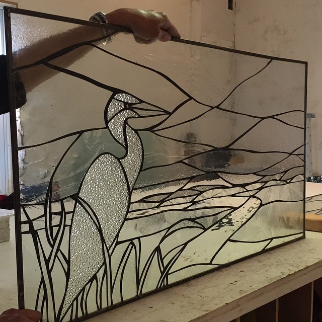 This panel was designed in collaboration with LBI local artist Missy Maschal and fabricated at SwellColors.