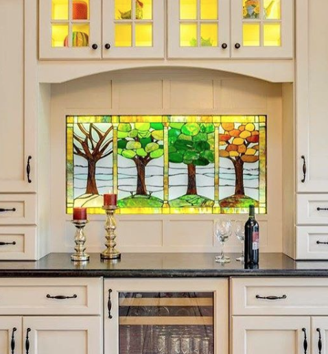 This four seasons panel is installed in a private residence locatedoutside of Philadelphia, PA. This kitchen remodel was featured on Houzz.com.