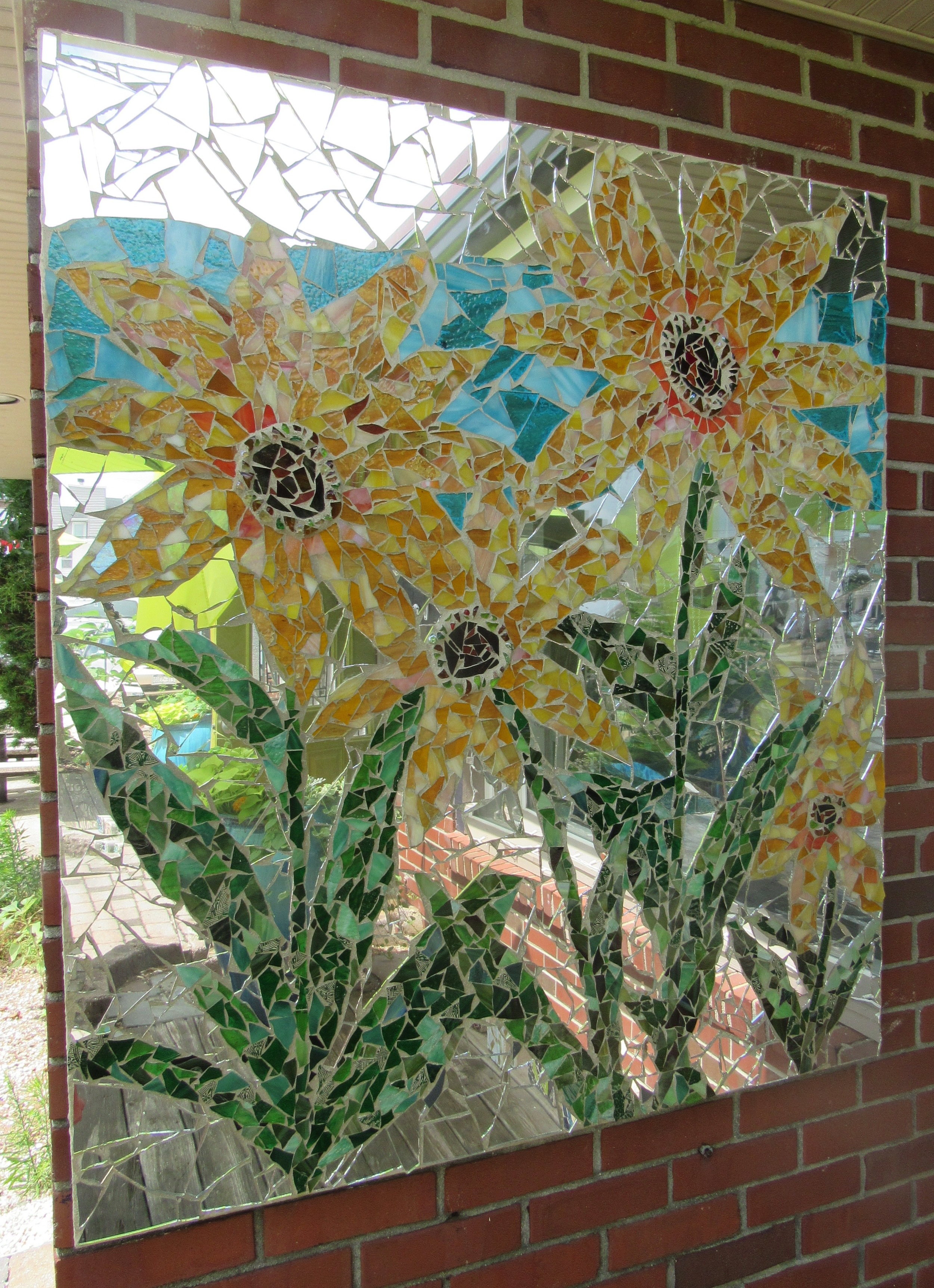 Beautiful custom sunflower mosaic