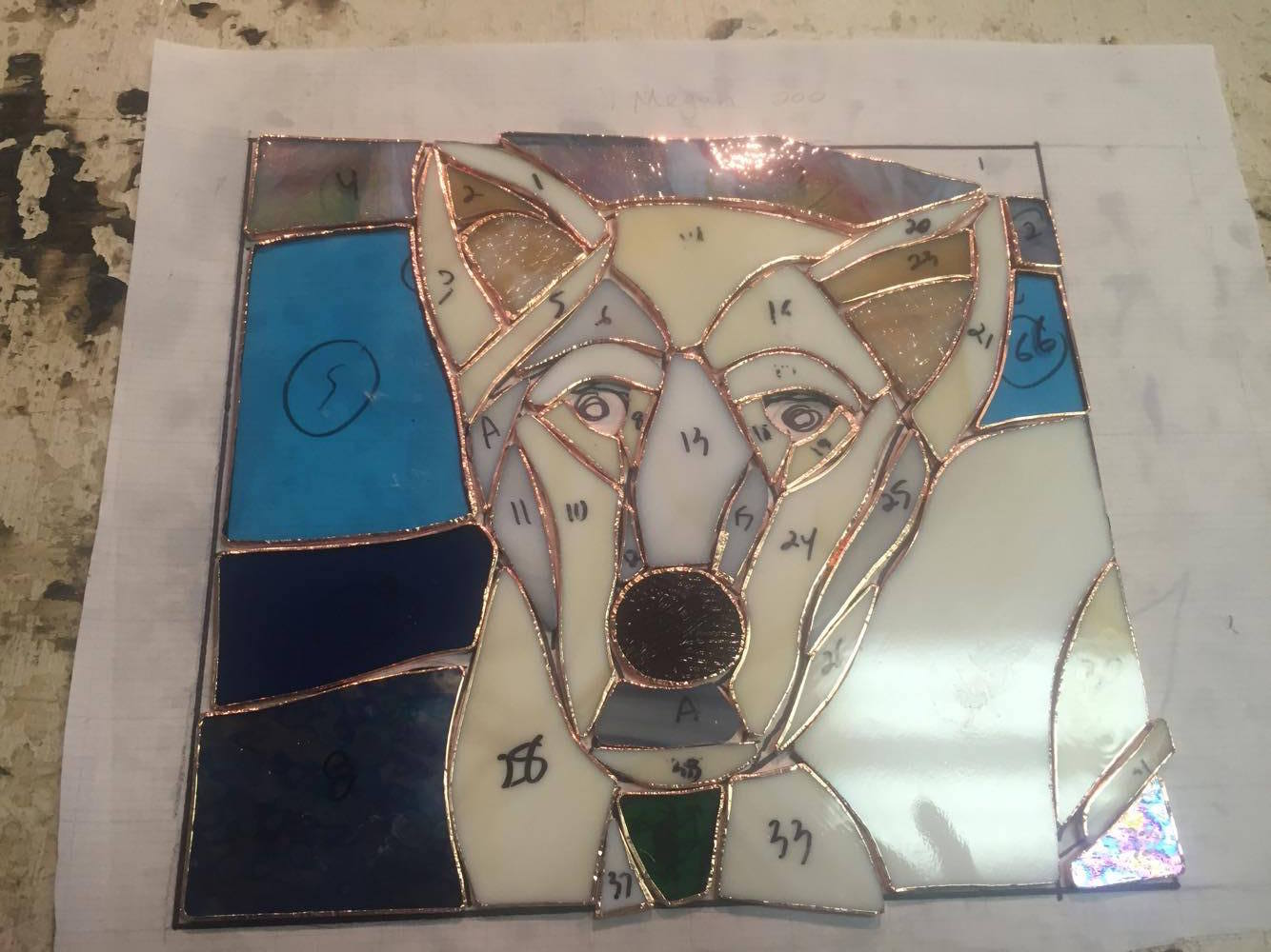 Custom Stained Glass Window.Pet Portrait 1.process 2.jpg