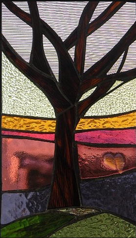 """Winter Sol Stained Glass Window Collection. Design for January 8: """"Rest""""."""