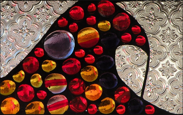 "Winter Sol Stained Glass Window Collection. Design for January 22: ""Mariscos""."