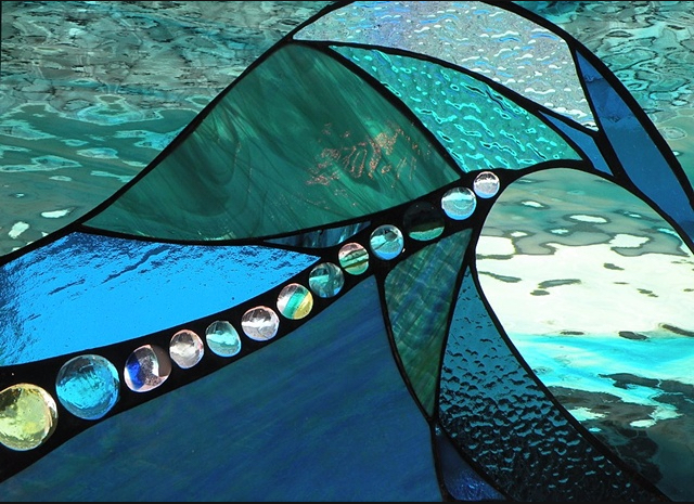 """Winter Sol Stained Glass Window Collection. Design for January 23: """"Todo Bueno""""."""