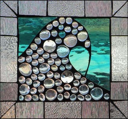"Winter Sol Stained Glass Window Collection. Design for January 28: ""Crystalline""."