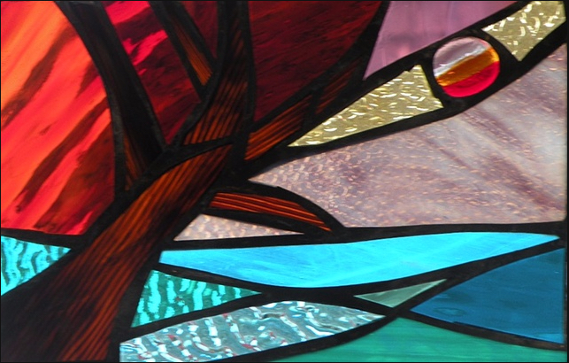 """Winter Sol Stained Glass Window Collection. Design for January 31: """"Afternoon Breeze""""."""