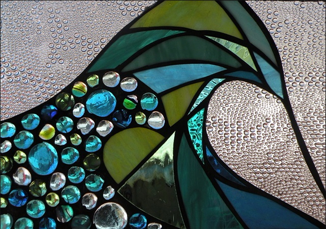 """Winter Sol Stained Glass Window Collection. Design for February 10: """"Two Dreams""""."""