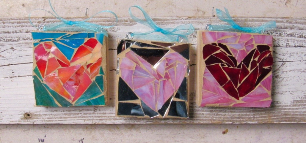 Some sweet examples of heart mosaics you can make here at SwellColors!