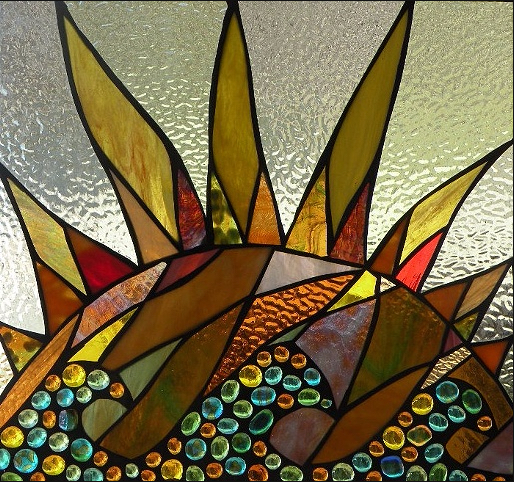 Stained Glass Collection.Winter Sol-2.22-Sunflower