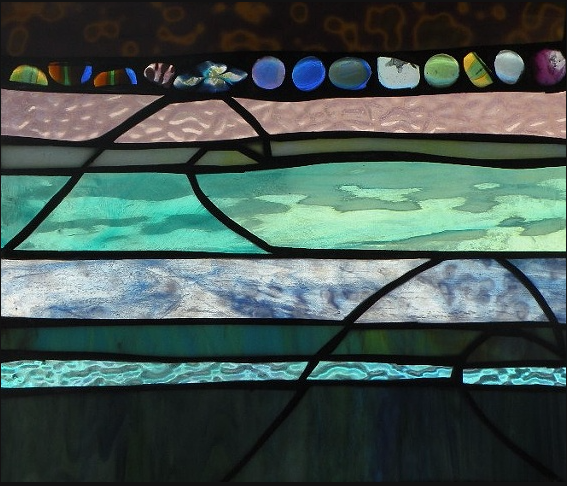 "Winter Sol Stained Glass Window Collection. Design for February 25: ""Winter Colors""."