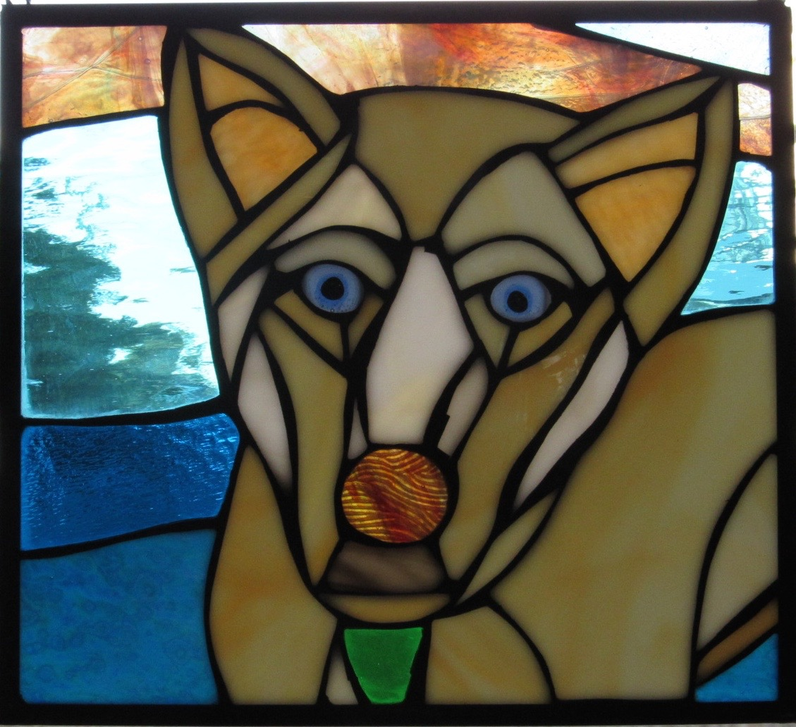 Custom Dog Stained Glass Window Portrait  Adorable way to honor our favorite little buddies!