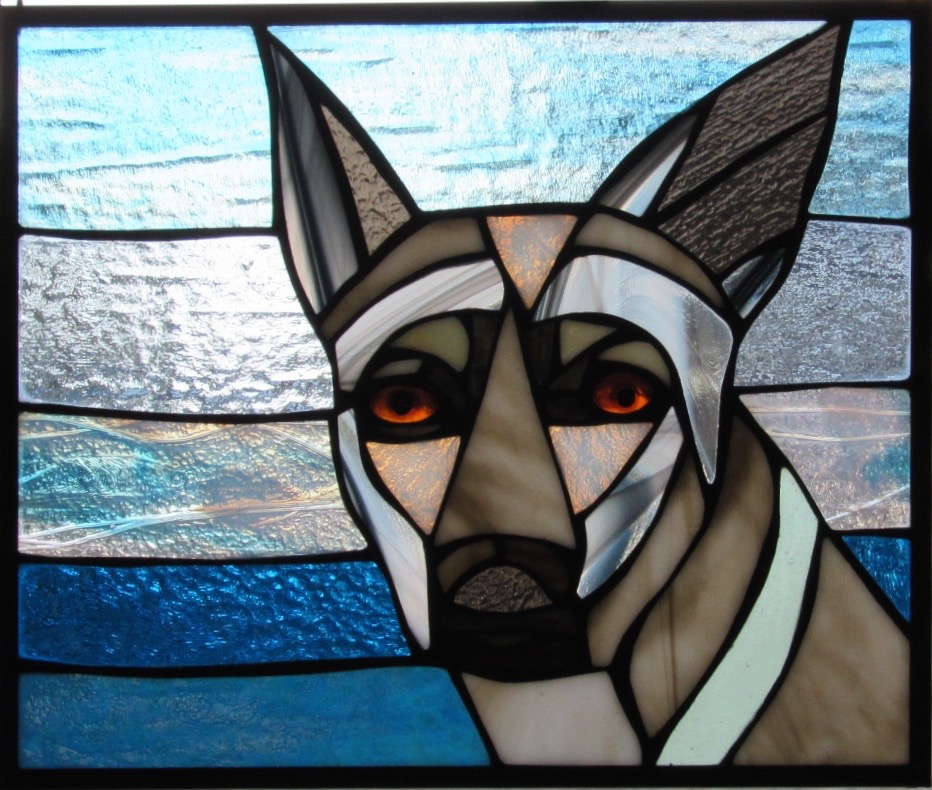 Custom Pet Portrait in Stained Glass  Adorable way to honor our favorite little buddies!