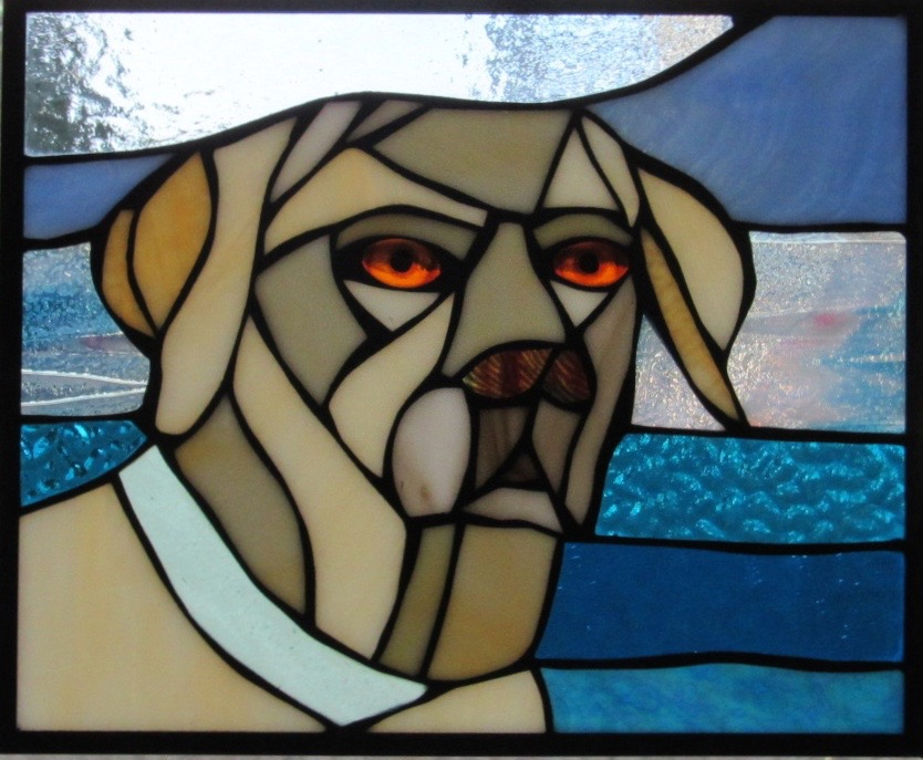 Custom Dog Portrait in Stained Glass  Adorable way to honor our favorite little buddies!