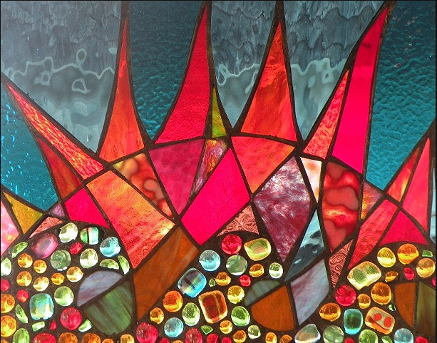 Stained Glass Collection.Winter Sol-3.14-Tiburon