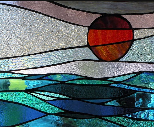 """Primavera Stained Glass Collection. Design for April 10th, """"Fuego""""."""