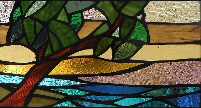 """Primavera Stained Glass Collection, April 11th: """"Lookout""""."""